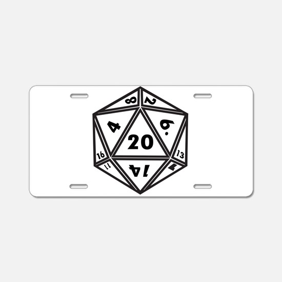 d20 Aluminum License Plate