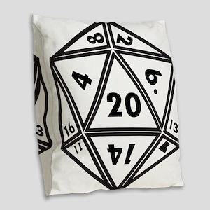 d20 Burlap Throw Pillow