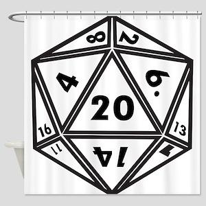 d20 Shower Curtain