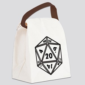 d20 Canvas Lunch Bag