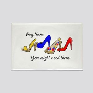 BUY THE SHOES Magnets