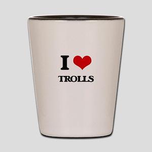 I love Trolls Shot Glass