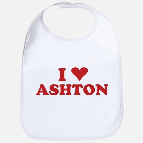 I LOVE ASHTON Bib