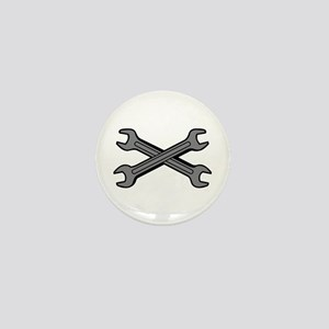 CROSSED WRENCHES Mini Button