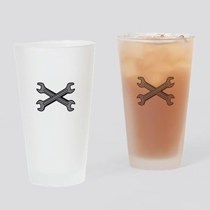 CROSSED WRENCHES Drinking Glass