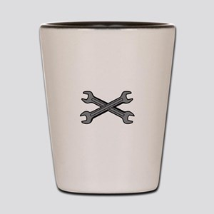 CROSSED WRENCHES Shot Glass