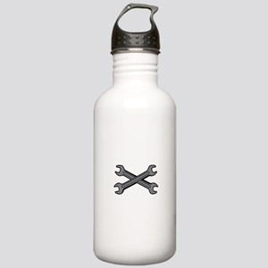 CROSSED WRENCHES Water Bottle