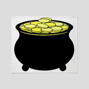 Pot Of Gold Throw Blanket