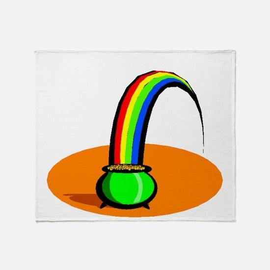 Rainbow Pot Of Gold Throw Blanket
