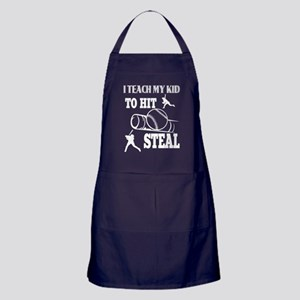 I Teach My Kid To Hit Steal T Shirt Apron (dark)