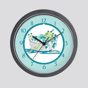 Frog In Tub Bathroom Clock Wall Clock