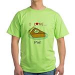 I Love Pie Green T-Shirt