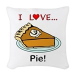 I Love Pie Woven Throw Pillow