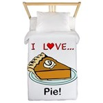 I Love Pie Twin Duvet