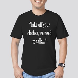 take off your Men's Fitted T-Shirt (dark)