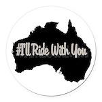 Ride Australia Round Car Magnet