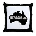 Ride Australia Throw Pillow