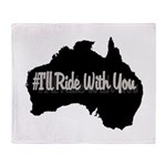 Ride Australia Throw Blanket
