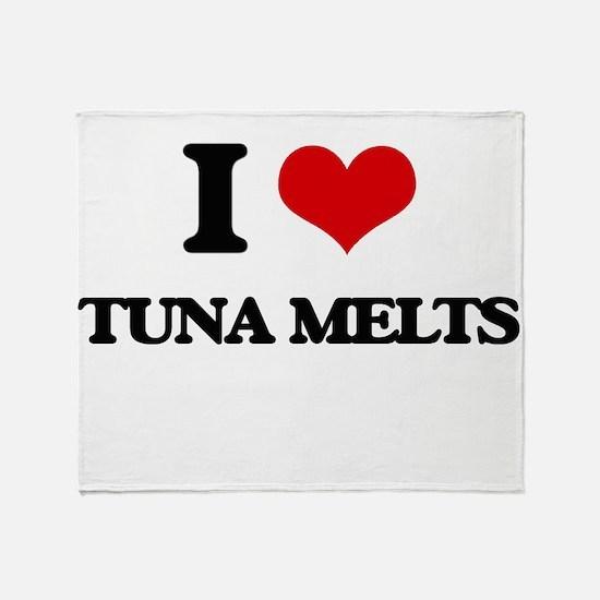 I Love Tuna Melts Throw Blanket