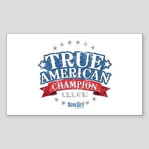 New Girl Champion Sticker (Rectangle)