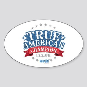 New Girl Champion Sticker (Oval)
