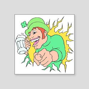 Irishman With Beer Sticker
