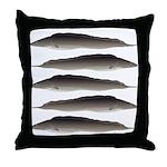 Aba African Knifefish Throw Pillow