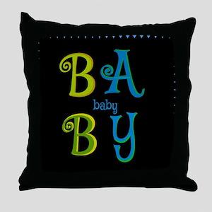 """""""Baby-Baby"""" Dark Throw Pillow"""