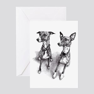 Whippet friends Greeting Cards