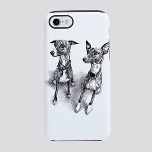 Whippet friends iPhone 7 Tough Case