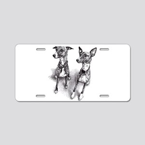 Whippet friends Aluminum License Plate