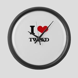 I love Tweed Large Wall Clock