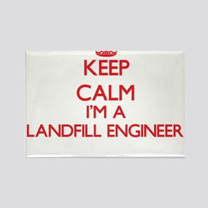 Keep calm I'm a Landfill Engineer Magnets