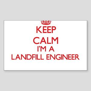 Keep calm I'm a Landfill Engineer Sticker