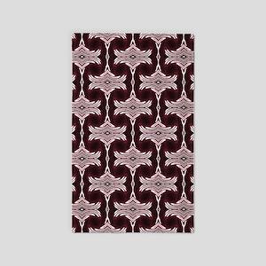 Maroon Art Deco Pattern Area Rug