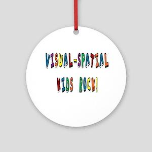 Visual Spatial Kids Rock Ornament (Round)