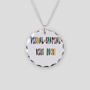 Visual Spatial Kids Rock Necklace