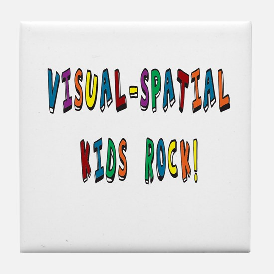 Visual Spatial Kids Rock Tile Coaster