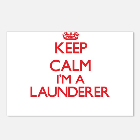 Keep calm I'm a Launderer Postcards (Package of 8)