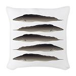 Aba African Knifefish Woven Throw Pillow