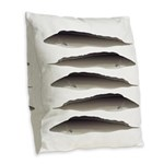 Aba African Knifefish Burlap Throw Pillow