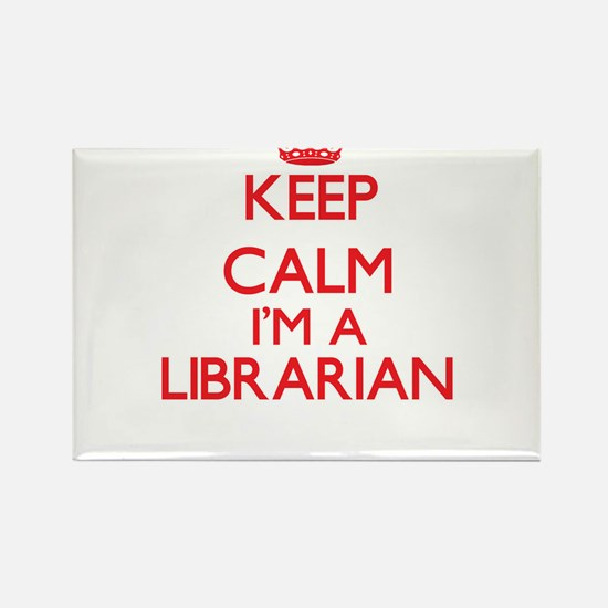 Keep calm I'm a Librarian Magnets