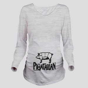 Pigatarian Long Sleeve Maternity T-Shirt
