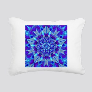 Blue and Purple Patterne Rectangular Canvas Pillow
