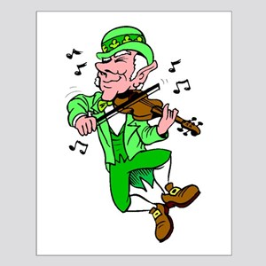 Leprechaun Playing Fiddle Posters