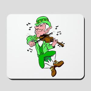 Leprechaun Playing Fiddle Mousepad