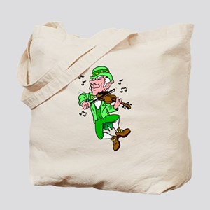 Leprechaun Playing Fiddle Tote Bag