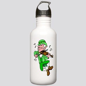 Leprechaun Playing Fiddle Water Bottle