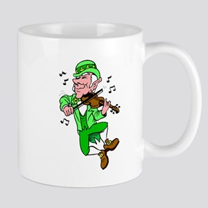 Leprechaun Playing Fiddle Mugs