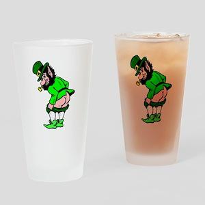 Leprechaun Mooning Drinking Glass